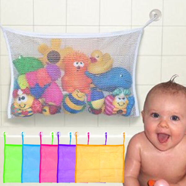 Baby Bath Bathtub Toy Mesh Net Storage Bag Organizer Holder Bathroom Organiser