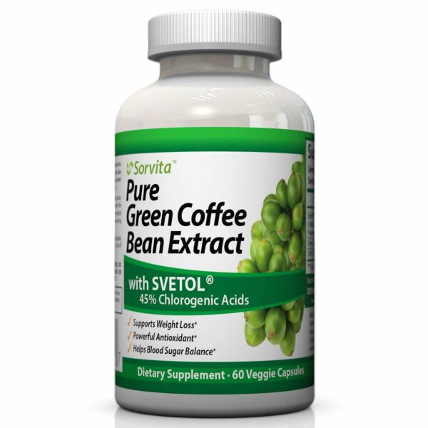 Sorvita Pure Green Coffee Bean Extract with Svetol® Weight Loss Supplement