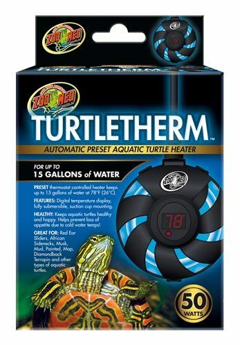 ZOO MED Turtletherm Automatic Aquatic Turtle Heater 50 watts $19.99
