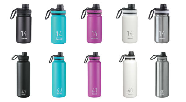 Takeya ThermoFlask Insulated Stainless Steel Water Bottle 5 Sizes 5 Colors