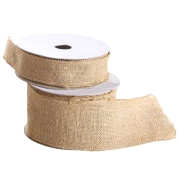 Burlap Craft Ribbon Spool 10 Yards Natural Jute Rustic Wedding Xmas Decor