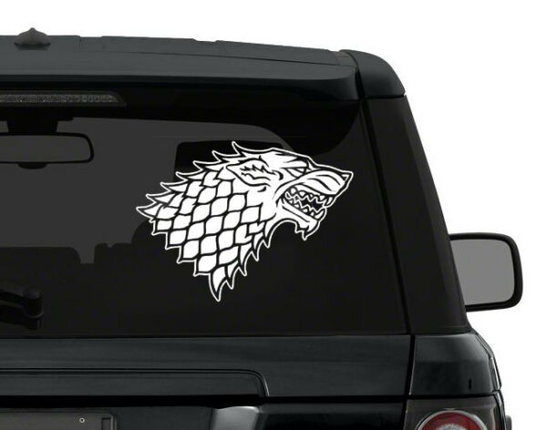 Game of Thrones STARK DIREWOLF sigil decal sticker CHOOSE COLOR