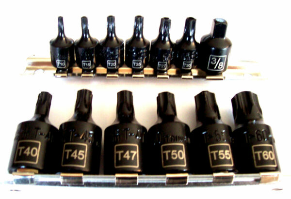 15pc IIT LASER ETCHED TAMPER PROOF TORX AIR IMPACT STAR BIT SOCKET SET SECURITY