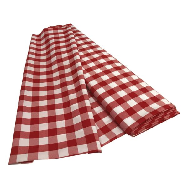 LA Linen CheckeredGingham Fabric By The Bolt 5860-Inch. Made in USA