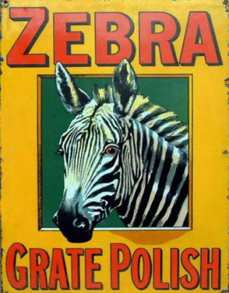 Zebra Grate Polish Advertisement Reproduction Metal POSTER TIN Sign WALL PLAQUE