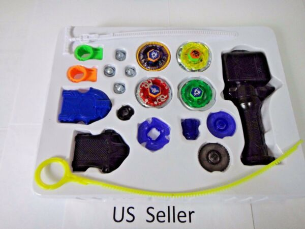 Beyblade Metal Master Fusion fight Launcher Grip rare toy top set 4D US seller