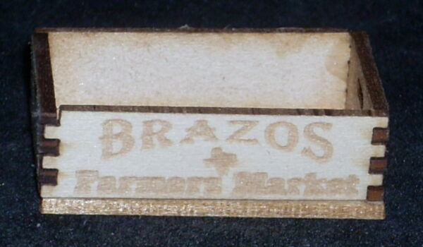 Dollhouse Miniature Brazos Farmers Produce Crate 1:12 Farm Texas Grocery Market