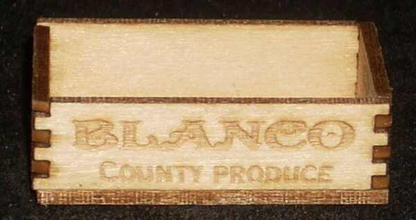 Dollhouse Miniature Blanco County Produce Crate 1:12 Farm Texas Grocery Market