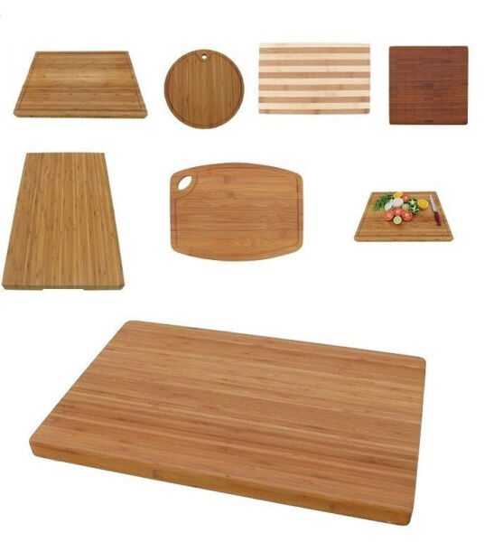 Premium Bamboo Cutting Board Wood Large Small Thick Handle Options
