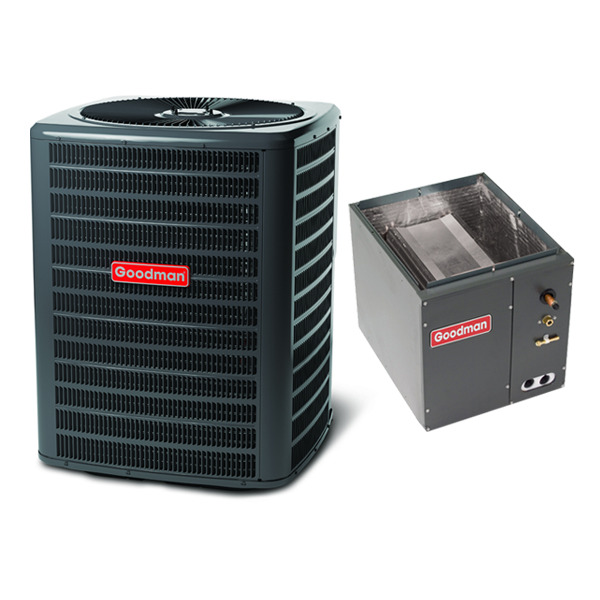 3.5 Ton 14 Seer Goodman Heat Pump Condenser and Coil