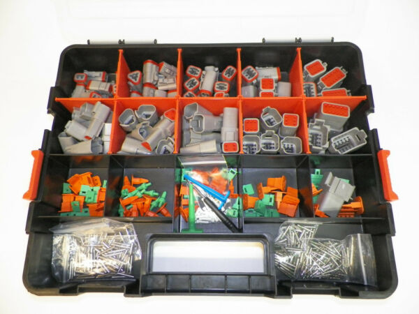 518 PC GRAY DEUTSCH DT CONNECTOR KIT - SOLID TERMINALS + REMOVAL TOOLS,