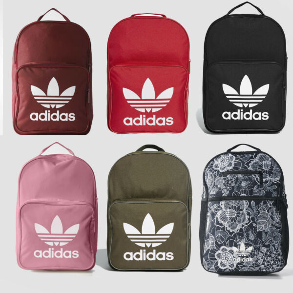 Adidas Originals Trefoil Logo Backpack Classic Bookpack School Bag New
