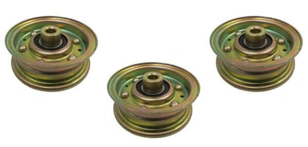 (3) IDLER PULLEYS for Lesco 050062 Bobcat Ransomes 38010-2A Dynamark Noma 300920