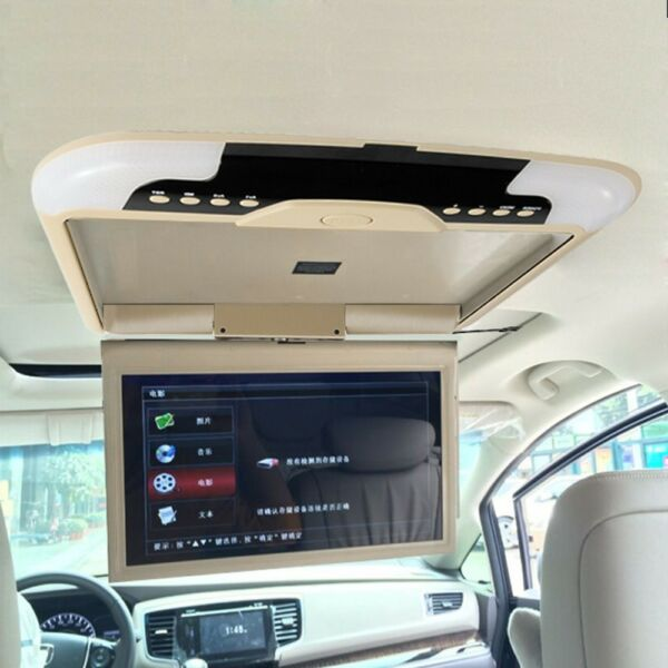 13inch Beige Car Roof Monitor LCD TFT Overhead Flip Down Car Ceiling Screen US $78.99