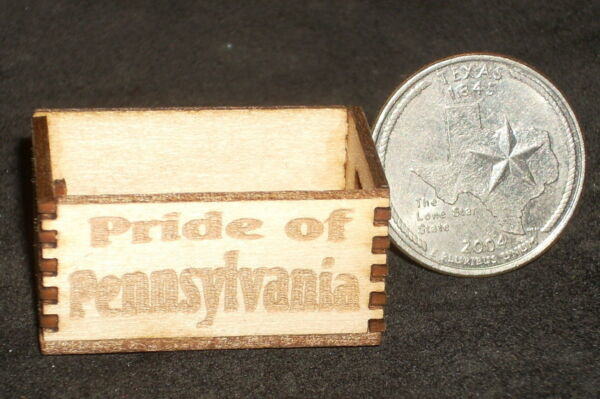 Dollhouse Miniature Pride of Pennsylvania Produce Crate 1:12 Food Market Store