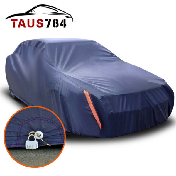 Full Car Cover Waterproof Breathable UV Snow Dust Heat Rain Resistant Protection