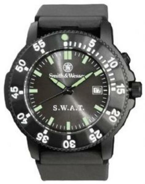 Smith & Wesson SWW-45 Wesson Men's SWAT Watch Black Face & Rotating Bezel