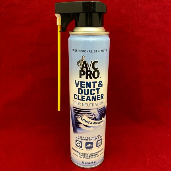 AC PRO Vent & Duct Heating and Cooling HVAC Cleaner & Deodorizer Spray 10oz