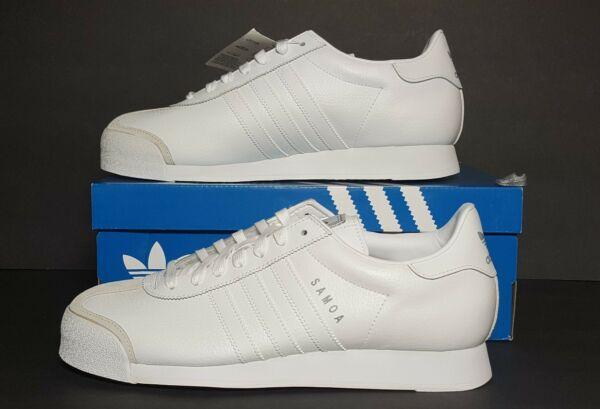 ADIDAS SAMOA MEN'S WHITE ORIGINAL CLASSICS SNEAKERS MULTIPLE SIZES  NEW /BOX