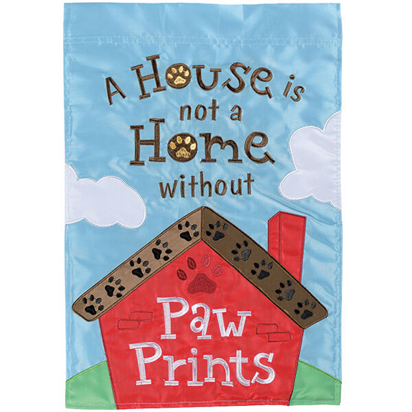 A House is not a Home...Applique Decorative Flag