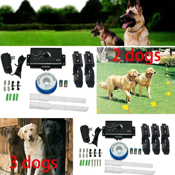 Waterproof Shock Collar Electric Dog Pet Fence System for 3 2 dogs