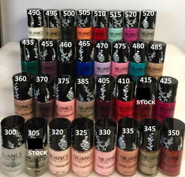 10 Lot Nuance Salma Hayek Nail Lacquer Polish Red Blue White  *Pick Your Colors!
