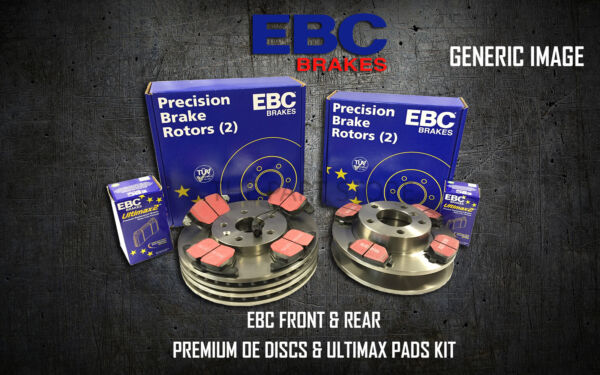 NEW EBC FRONT AND REAR BRAKE DISCS AND PADS KIT OE QUALITY REPLACE - PD40K750