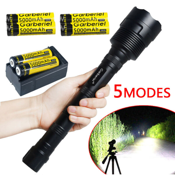 80000Lumens 5Modes LED 12x T6 Tactical Flashlight Torch Super Bright Hunting USA
