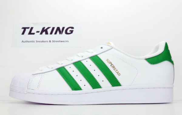Adidas Originals Superstar Foundation White Green Gold BY3715 Msrp $80 Gx