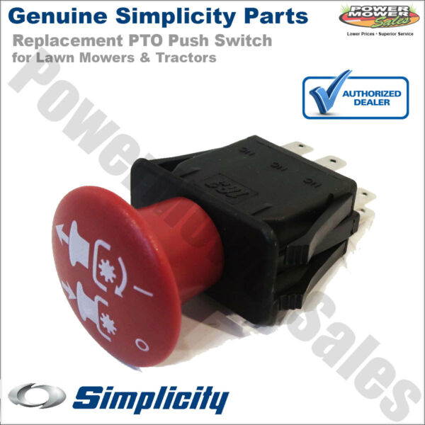 Genuine Simplicity PTO Push Switch for Lawn Mowers 1722887SM