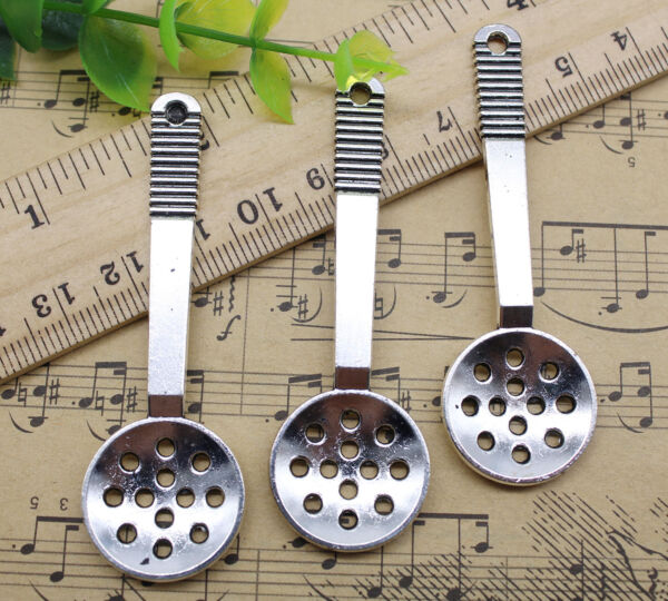 2 10 30pcs Jewelry Making DIY Filter spoon Alloy Charms Pendants 65x21mm $3.26