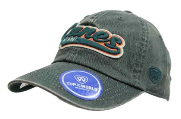 Miami Hurricanes NCAA Top of the World quot;Parkquot; Garment Washed Slouch Hat $7.95