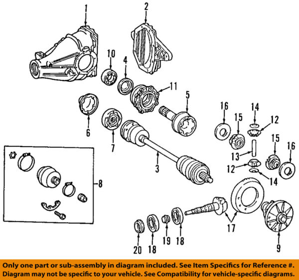 Mercedes MERCEDES-BENZ OEM 07-09 SL550 Rear-Axle Assembly or CV Shaft 2303507410