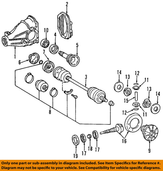 Mercedes MERCEDES-BENZ OEM 03-06 S600-Rear Axle Assembly or CV Shaft 2203506510