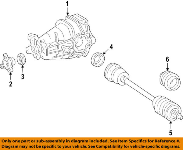 Mercedes MERCEDES-BENZ OEM R63 AMG Rear-Axle Assembly or CV Shaft 2513500810