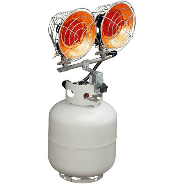 Double Tank Top Propane Heater Shop Garage Portable Outdoor LP Gas 30000 BTU