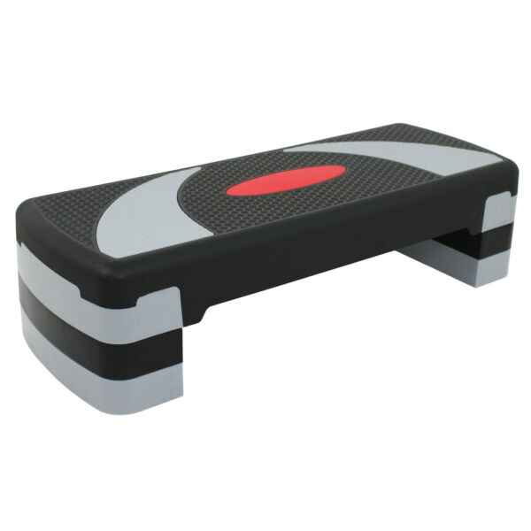 30#x27;#x27; Fitness Aerobic Step Adjust 4quot; 6quot; 8quot; Exercise Stepper With Risers