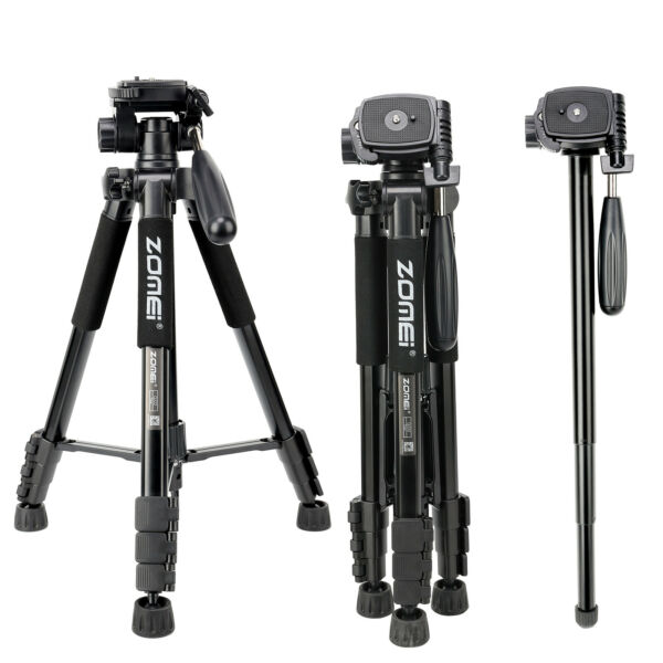 ZOMEI Q222 Pro Heavy Duty Camera Tripod Monopod with Pan Head for DSLR