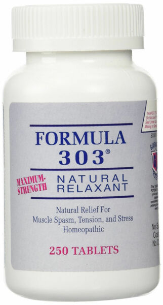 Formula 303 - Natural relief for muscle spasm stress and tension