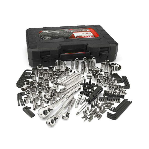 Craftsman 230 Pc Silver Finish Standard & Metric Mechanics Tool Set 230 pc #165