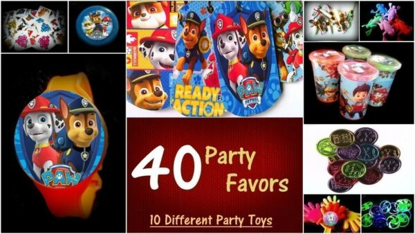 Paw Combo- 40 Party Favors Combo-Toys Birthday Prizes Pinata Filler Pack Patrol