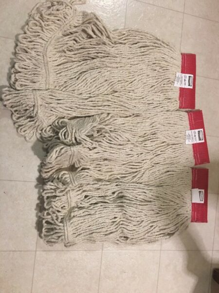 Rubbermaid Commercial cotton MOP Head # 24 Looped End lot of 3 NEW
