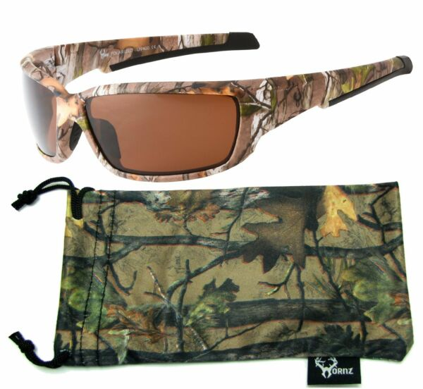 Hornz Polarized Camouflage Sunglasses Strong Arms Forest Full Frame HZ98037-40