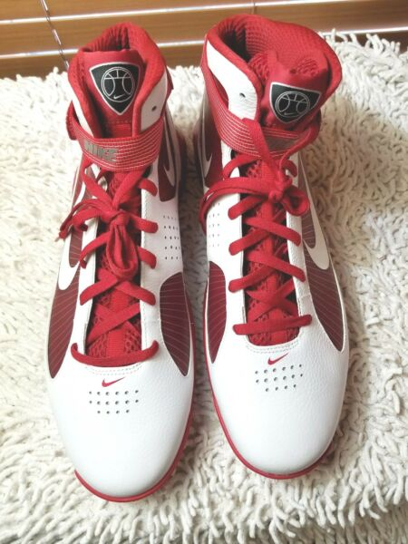 Nike Hypermax Mens Basketball High Tops 367180 Red/White Shoes Size 16.5