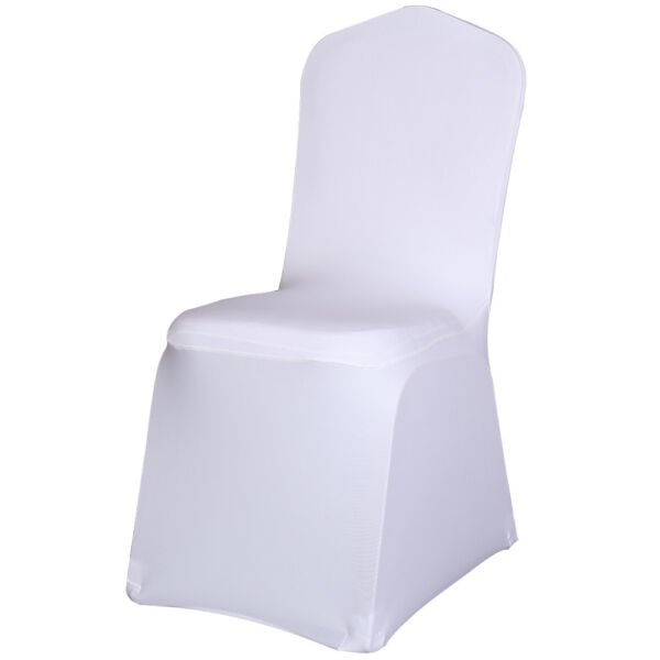 Universal White Spandex Chair Covers for Wedding Even Party Banquet