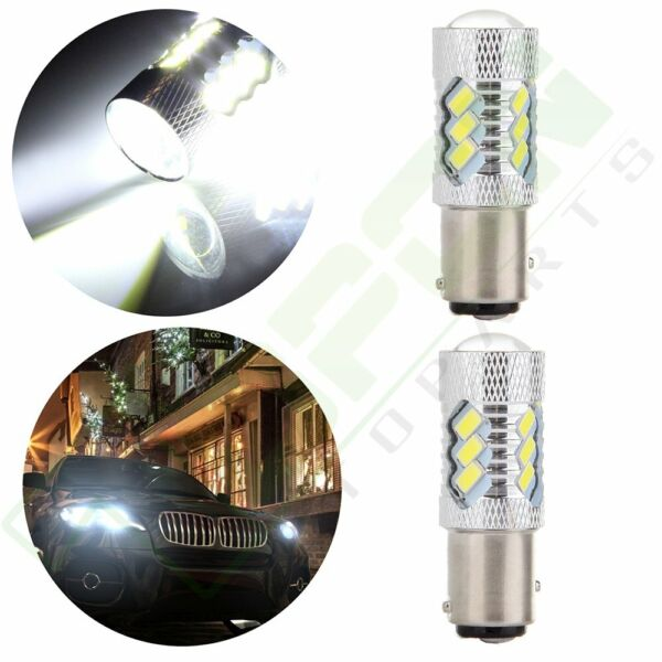 2x High Power Cree LED 1157 15 5730 SMD Light 60W 6000LM Brake White HID Bulbs