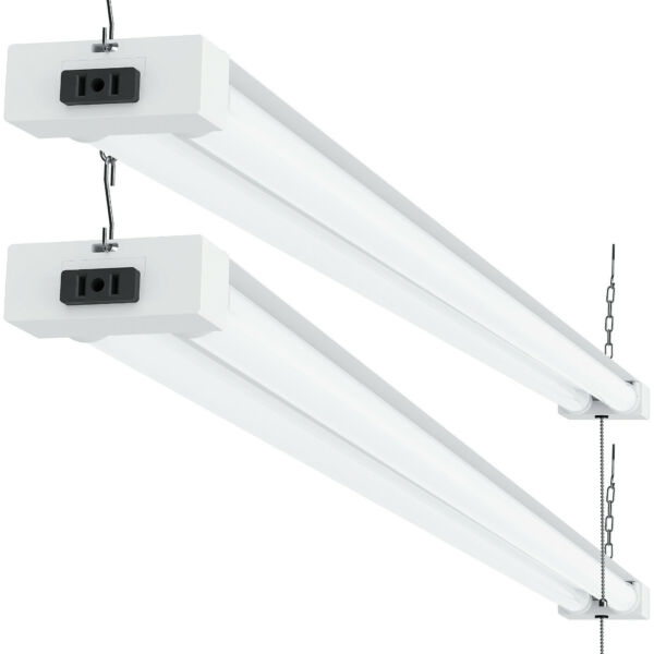 SUNCO 2 PACK SHOP LIGHT UTILITY LED 40W (260W) 4 FT 5000K (DAYLIGHT) FRSTD
