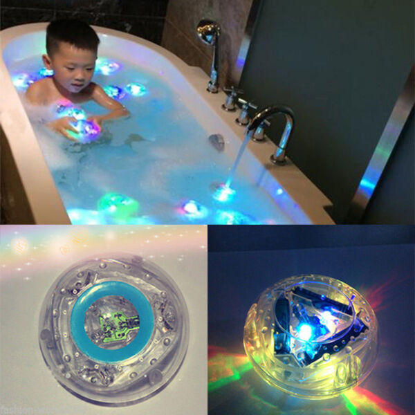 Baby Kids Waterproof Bathroom Color Changing LED Light Bath Tub Toy Xmas Gift