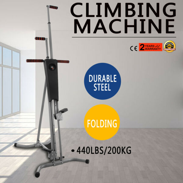 NEW Max Climber Vertical Stepper Exercise Fitness with Monitor & Manual Sealed
