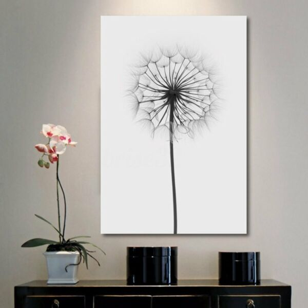 Minimalism Dandelion Canvas Print Painting Wall Art Picture Home Decor Unframed